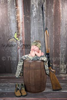 Gun; hunting; Newborn Photography This is a composite. To view how it was done, please view: pinterest.com/...