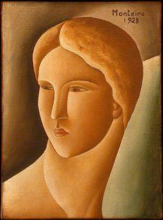 Head of a Woman - Vicente do Rego Monteiro 1928 Oil on canvas