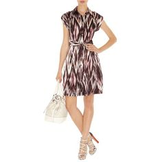 Karen Millen Tribal Print Dress Multicolour