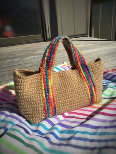 Bag Pattern Free, Tote Pattern, Crochet Handbags, Crochet Purses, Diy Crochet Bag, Crochet Stitches For Beginners, Crochet Shoulder Bags, Boho Bags, Craft Bags