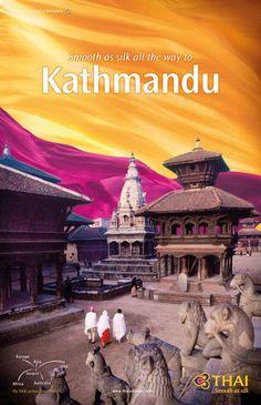 Kathmandu: THAI Airways Destination Poster Collection on Behance