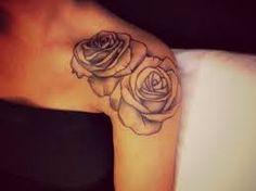 Rose Tattoo, Shoulder Tattoo, Arm Tattoo--if I ever get a tattoo on my shoulder, it will be roses Body Art Tattoos, New Tattoos, Girl Tattoos, Sleeve Tattoos, Female Tattoos, Cool Tattoos For Girls, Faith Tattoos, Tatoo 3d, I Tattoo