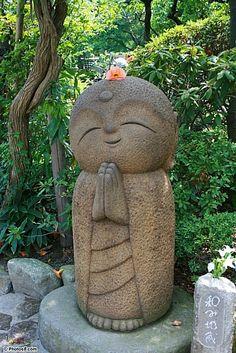 Nagomi Jizo Statue in Hasedera Temple in Kamakura