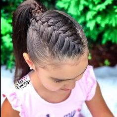 Little Girl Braid Hairstyles, Cute Braided Hairstyles, Baby Girl Hairstyles, Toddler Hair Dos, Mexican Hairstyles, Girl Hair Dos, Hair Up Styles, Hair Videos, Hair Hacks