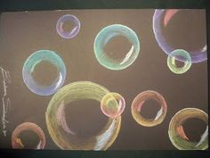 Bubbles -analogous colors