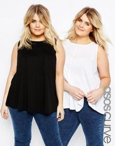 ASOS CURVE Girly Swing Top 2 Pack SAVE 10%