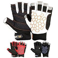 Amazon.com : SAILING GLOVES STICKY Palm Gripy Glove Yachting Kayak Dinghy Fishing Short Finger Multi Colors : Sports & Outdoors