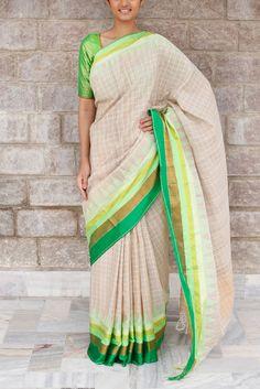 Anargala Khadi Saree