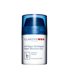 Clarins Men Super Moisture Gel - Soothing, anti-pollution gel draws moisture to the skin; then seals it in for hours of continuous hydration. Let me tell you, I've tried numerous moisturizers geared toward oily skin and this is THE BEST one I've tried so far.