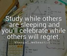Image discovered by KhanGal_WeHeartIt. Find images and videos about quotes, life and motivation on We Heart It - the app to get lost in what you love. Study Hard Quotes, Study Motivation Quotes, College Motivation, Reality Quotes, Life Quotes, Success Quotes, Status Quotes, Exam Quotes, Stickers Citation