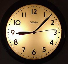 Warren Clock Co Auxiliary Wall Clock In 16 Inch Square