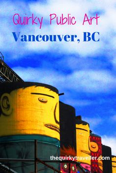 Only got 24 hours in Vancouver, British Columbia? Eat, drink, cycle, fly and much more - 10 things to do in Vancouver Riddles Kids, Med Diet, Granville Island, Canada Travel, Street Artists, World Cultures, Public Art, Animal Paintings, British Columbia