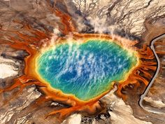 Grand Prismatic Spring, Yellowstone' - I flew across the country to capture this spectacular natural wonder.