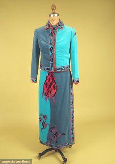 Pucci Velvet & Chiffon Ensemble, Late 1960s, Augusta Auctions, October 2007 Vintage Clothing & Textile Auction, Lot 676