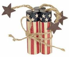 stars and stripes wooden firecrackers