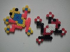 These cute little frogs are magnets made out of perler beads. They only took about 15 minutes a piece to finish they are for sale in my Zibbet shop!
