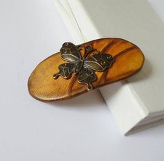 Leather French Barrette, Large Clip for Women, Butterfly Hair Jewelry for Girl, Leather Art Gifts For Coworkers, Gifts For Teens, Gifts For Wife, Girl Gifts, Leather Art, Leather Gifts, Leather Jewelry, Trending Christmas Gifts, Christmas Gifts For Husband