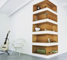 projects idea of corner wall shelving. from Instagram Make a Corner Wall Shelf With L Shape To Get The Most Of Space
