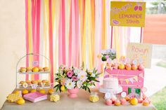 Pink Lemonade Girl Summer 1st Birthday Party Planning Ideas Decor