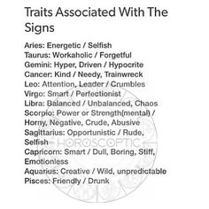 Signs and their personalities