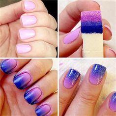 8Pcs Wholesale Nail Gradient Sponge Diy Nail Tools Hot Polish Manicure Tool