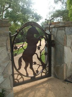 Beautiful horse gate