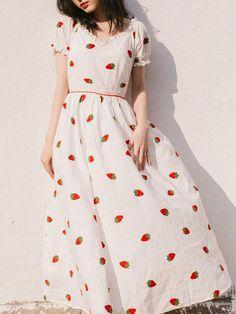 Fashion 2020, Look Fashion, Fashion Outfits, Korean Fashion, 90s Fashion, Coton Vintage, Vintage Cotton, Simple Dresses, Beautiful Dresses
