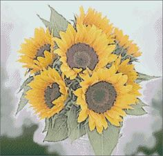 Free Sunflower Patterns To Paint | Free Pictures and Cross Stitch Patterns Thomas Gallery: Sun Flowers