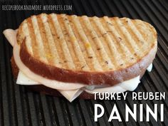 Turkey Reuben Panini - made SKINNY with fat free cheese, and dill mustard instead of dressing. Perfect 300 cal option and only 7g fat.