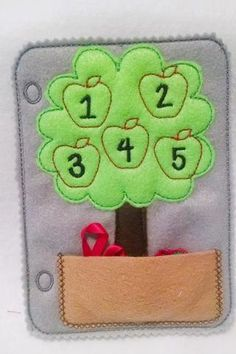 Counting apple tree counting quiet book page and can be added to other pages to…