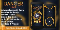 Danger Fall  - Buildbox Addictive Arcade Android Game Project . Install API 21 or higher from SDK Manager on ADT Bundle . If you want to Preview the Game , you can try on Genymotion or Real Device . Do not use Eclipse Emulator