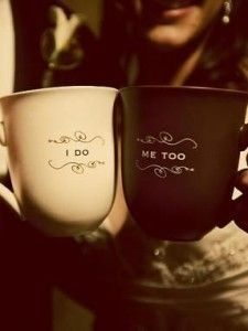 So cute if you are doing a coffee/hot chocolate bar for your toast instead of your typical toasting glasses!