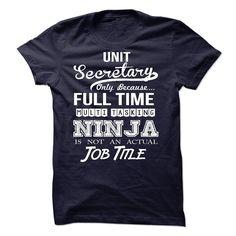 Unit Secretary T-Shirts, Hoodies. Check Price Now ==► https://www.sunfrog.com/LifeStyle/Unit-Secretary-54187263-Guys.html?41382