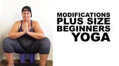 Beginners Plus Size Yoga Modifications - squat figure 4 triangle warrior