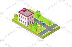 House Near Road by robuart on @creativemarket