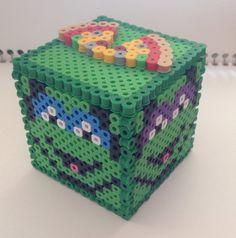 Teenage Mutant Ninja Turtles Perler Box / Bank perler beads by YattaCreations
