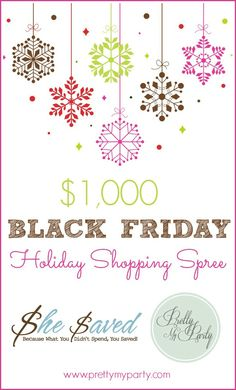 I am SO excited about this giveaway today! With the holidays just around the corner, Christmas shopping is on a lot of minds. How great would it be to have $1,000 to spend on Black Friday? I've teamed up with She Saved and a group of fabulous blogs and business to give you a Black... Read More »