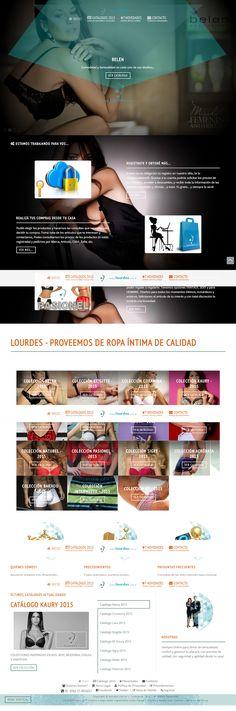 Diseño web para Lourdes, Distribuidora de Lencería en Resistencia, Chaco, Argentina