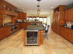 Amazing kitchen with wood cabinets and granite countertops wall nj