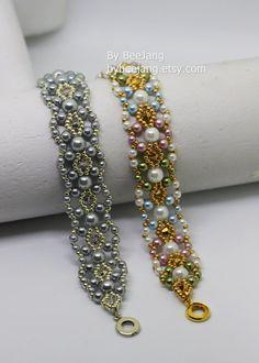 25% ON SALE PDF Tutorial Pearla bracelet Beading by bybeejang