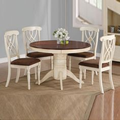 HomeSullivan 5 Piece Antique White And Cherry Dining Set   Kitchens,  Kitchen Table Sets And French Country Kitchens