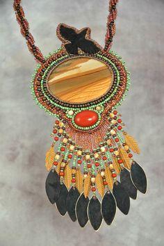 Owyhee Jasper with Carved Horn Raven by sedonaskye on Etsy, $165.00