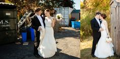 Sometimes you have to have vision.  These shots were taken only a few feet apart.  As long as you find a small amount of space that is nice with good lighting that is all you need to get great shots on your wedding day.  Images by Vail Fucci