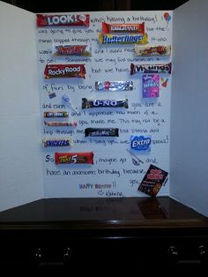 Candy bar posters, Boss and Candy bars on Pinterest