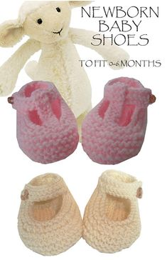The Design Studio: Garter Stitch Baby Shoes Free Knitting Pattern