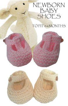 Garter Stitch Baby Shoes Free Knitting Pattern