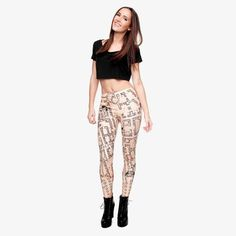 Fire flame Printing Leggings Punk Women Legging Stretchy Trousers Casual Pants Womens Leggings