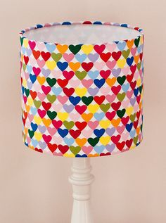 Bespoke Bright Multi-coloured Heart Lampshade by JoJonesCreative