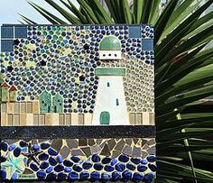 "MY LATEST PIECE: ""LIGHTING THE WAY"" Mosaic Pots, Wall Plaques, Water Features, Faeries, Kara, Original Art, Display, Lighting, Mosaics"