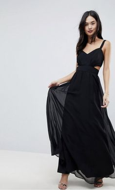 Buy ASOS Side Cut Out Maxi Dress with Cami Straps at ASOS. With free delivery and return options (Ts&Cs apply), online shopping has never been so easy. Get the latest trends with ASOS now. Side Cuts, Bridesmaid Dresses, Wedding Dresses, Cami, Asos, Outfits, Shopping, Black, Fashion